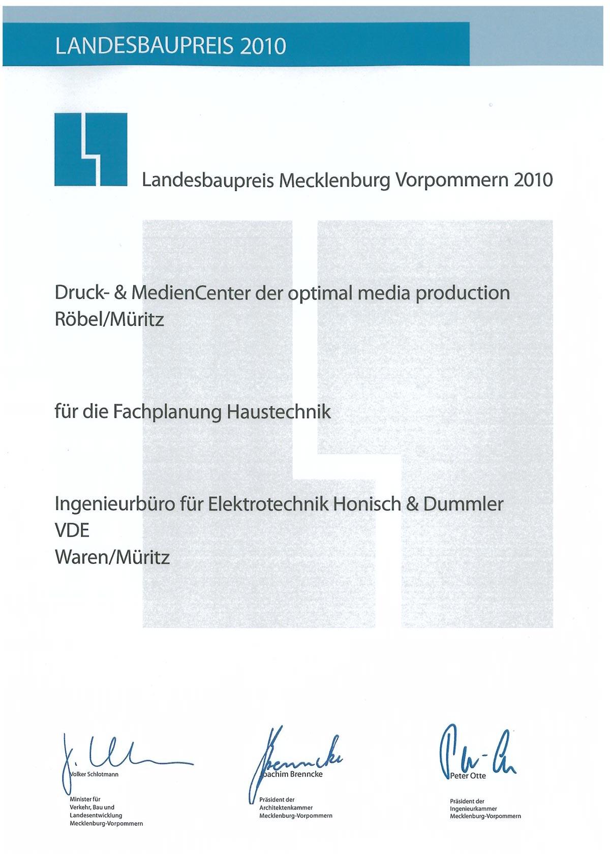 Landesbaupreis 2010