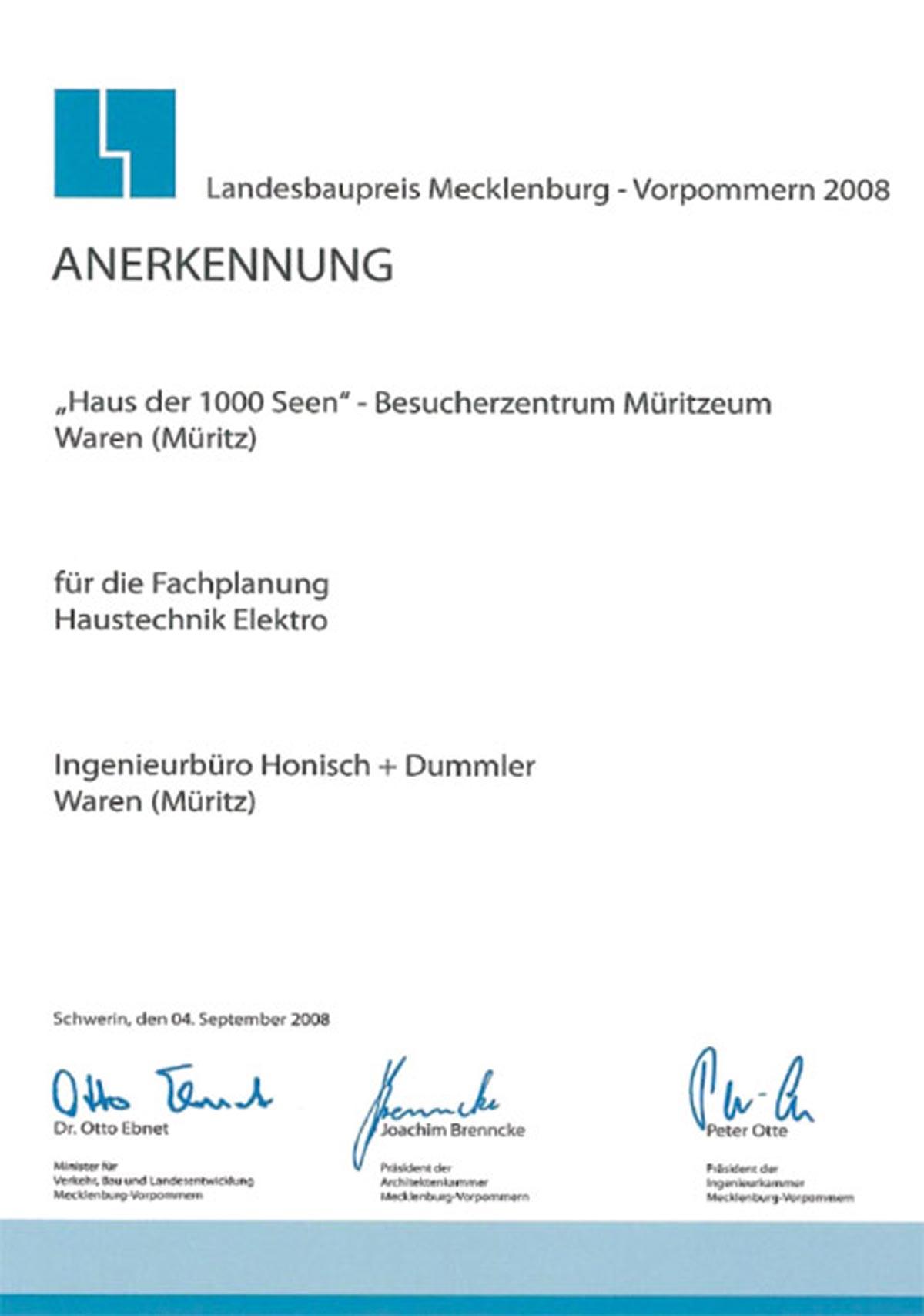 Landesbaupreis 2008